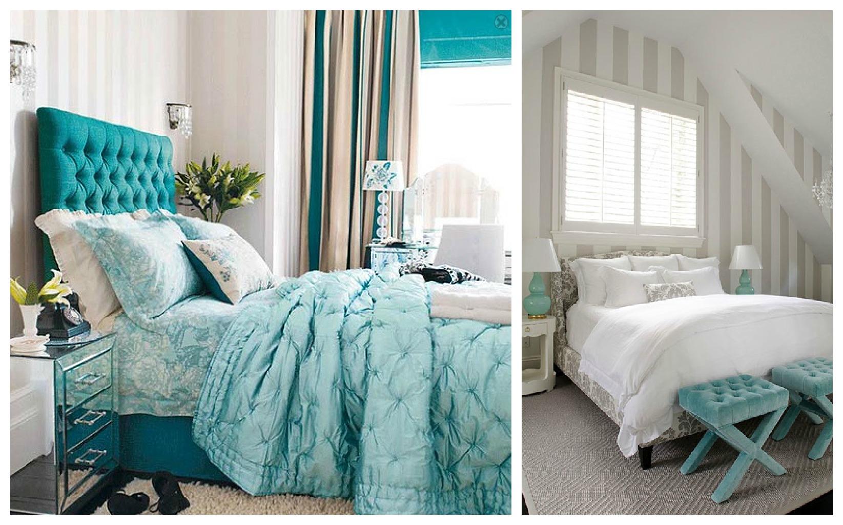 Quarto Branco E Azul Turquesa Redival Com ~ Papel De Parede Azul Tiffany Quarto