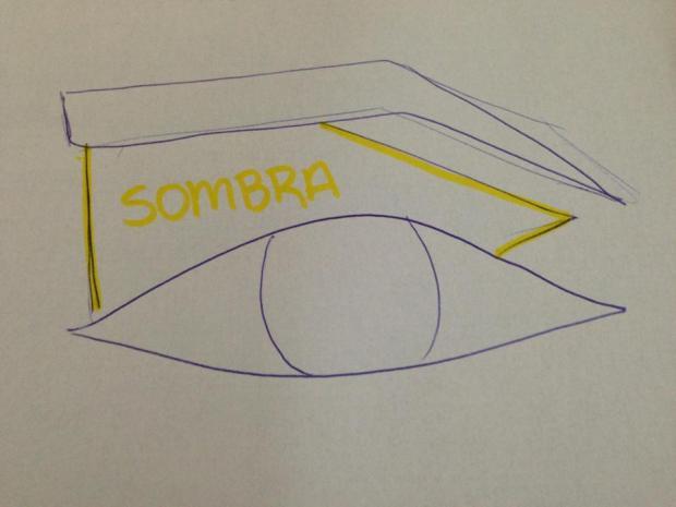 Tentei desenhar, num papel mesmo o que tentei explicar, na simetria da sombra. Desculpa a falta de capricho! hehe